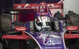 Habilitada la pista y sale a girar Alex Lynn Racing con el DS Virgin Racing Formula E Team.